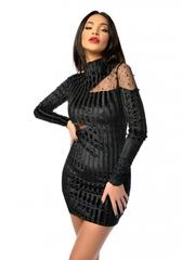Rochie de seara neagra Laura din catifea