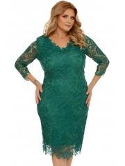 Rochie plus size verde smarald