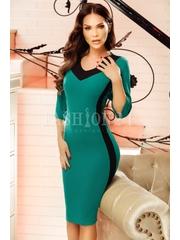 Rochie Selene verde negru