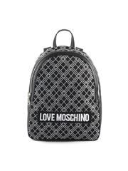 Rucsac femei Love Moschino negru cu logo print 2320RUCS4075N