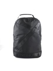 Rucsac femei Valentino negru din material textil cu logo straps 1950RUCS4KW01N