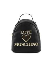 Rucsac mini femei Love Moschino negru cu logo 2320RUCS4033N