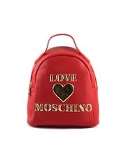 Rucsac mini femei Love Moschino rosu cu logo 2320RUCS4033N