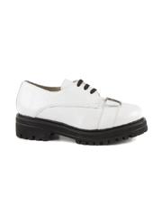 pantofi femei benvenuti albi din piele 2049dp1144a