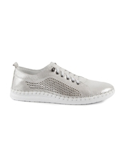 Pantofi femei Benvenuti argintii din piele 2539dp6019ag