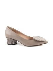 Pantofi femei Enzo Bertini taupe din piele cu toc mediu 2809DP32500TA