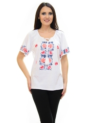 Tricou Dancing Flowers White