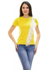 Tricou Flash Tulle Mustard