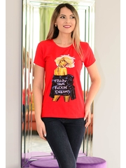 Tricou Follow Your Dreams Red