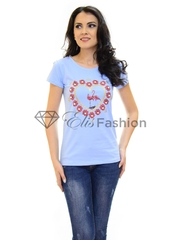 Tricou Heart Melting Blue