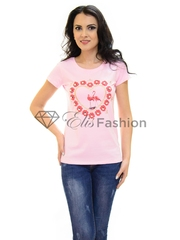 Tricou Heart Melting Pink