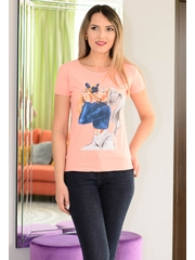 Tricou Lovely Dog Pink