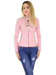 Geaca De Piele Famous Scarf Pink