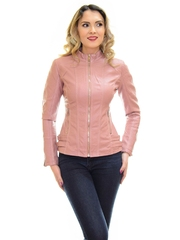 Geaca De Piele Leather Sign Pink