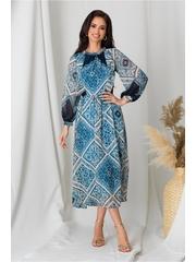 Rochie Moze bleu cu imprimeu divers