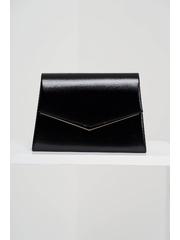 Geanta dama neagra tip plic de ocazie din piele ecologica