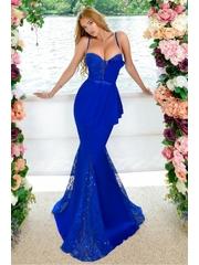 Rochie de seara lunga albastra cu tul