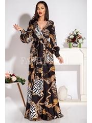 Rochie lunga Serena cu imprimeuri elegante