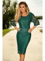 Rochie verde eleganta cu dantela