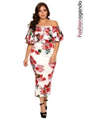 Rochie XXL Desire 128 Flowers