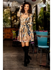 Rochie baby-doll imprimeu animal print